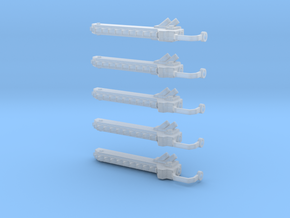 5 Chain swords left handed in Smooth Fine Detail Plastic