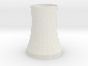 Cooling tower of nuclear power plant 1:1000 in White Strong & Flexible