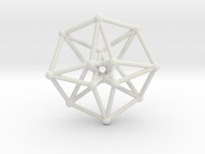 Toroidal Hypercube 35mm 1.5mm Time Traveller in White Natural Versatile Plastic
