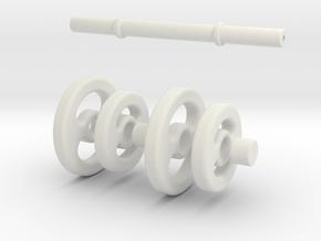 Dumbbell keychain (Chaveiro Haltere) in White Natural Versatile Plastic
