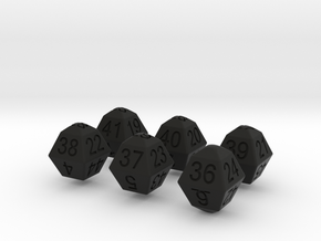 Lotto Dice(6x53) in Black Strong & Flexible