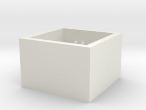 squareRing_CarpeDiem_Int_18mmx15mm in White Natural Versatile Plastic
