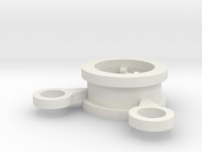 SingleVbaffle in White Natural Versatile Plastic