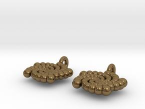 Phi Earing V2 in Natural Bronze