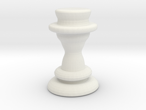 Chess Piece - Queen in White Strong & Flexible