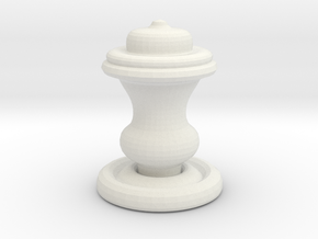 Chess Piece-King in White Natural Versatile Plastic