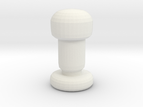 Chess Piece- Pawn in White Strong & Flexible