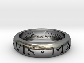 Sir Francis Drake Ring - Uncharted 3 Version in Polished Silver
