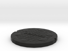 manhole cover Gotham 2 in Black Strong & Flexible
