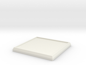 Square Model Base 35mm in White Strong & Flexible