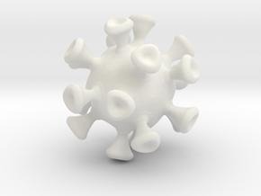 Virus Cell in White Natural Versatile Plastic