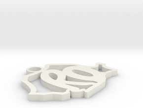 Romania shaped pendant in White Natural Versatile Plastic