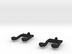 Musical Heart Earrings in Black Acrylic