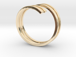 Bars & Wire Ring Size 12 in 14K Yellow Gold