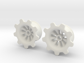 "Gear-ring Plugs 3/4"" in White Strong & Flexible"