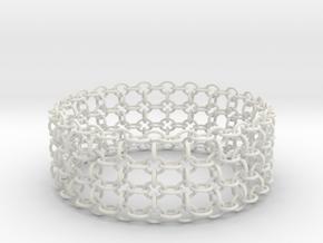 3in Shogun Bracelet in White Strong & Flexible