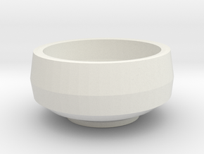 Green Tea Cup in White Natural Versatile Plastic