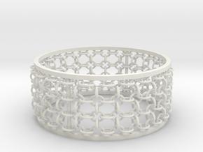 3in Emperor Bracelet in White Strong & Flexible
