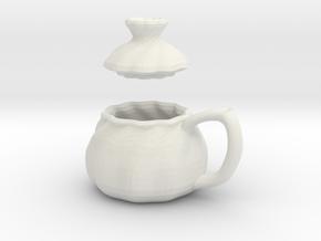 Soup Filled Dumpling Mug in White Strong & Flexible