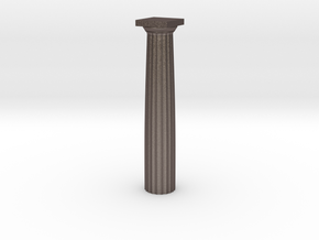 Parthenon Column Whole 1:100 in Polished Bronzed Silver Steel