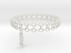 3in Yojimbo Kanji Bracelet in White Strong & Flexible