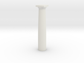 Parthenon Column (Hollow) 1:100 in White Strong & Flexible