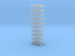 Kurzkupplung starr 4-fach Anschluß 1/220 in Smooth Fine Detail Plastic