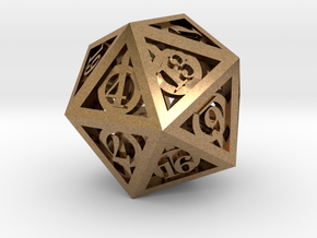 Deathly Hallows d20 in Raw Brass