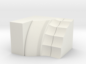 Parthenon Column Capital Slice 1:50 in White Strong & Flexible