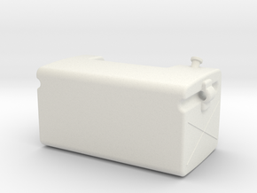 Fuel-tank-small RH in White Strong & Flexible