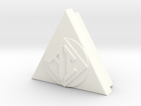 AI Icon smaller w/back in White Strong & Flexible Polished