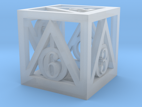 Deathly Hallows d6 in Smooth Fine Detail Plastic