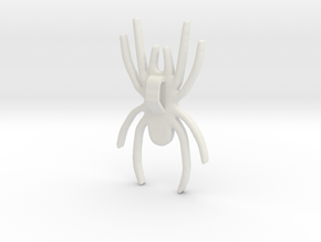 Spider Pendant 5cms in White Natural Versatile Plastic