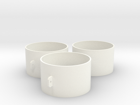 MDF25/OT x3 in White Strong & Flexible Polished