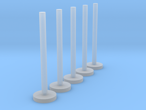 US103 - Wall Flagpole set (H0) in Smooth Fine Detail Plastic