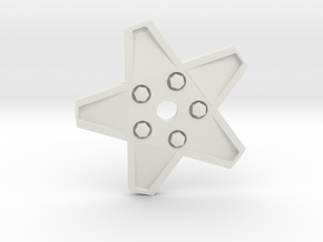 XMAS STAR 328 WHEEL 80 MM in White Natural Versatile Plastic