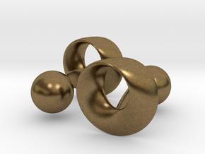 Möbius Cufflinks in Raw Bronze