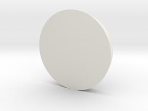 Circle - 2 in White Natural Versatile Plastic