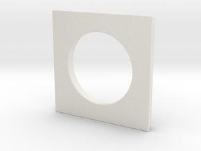 Circle - 1 in White Natural Versatile Plastic