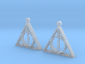 Deathly Hallows Earrings in Smooth Fine Detail Plastic