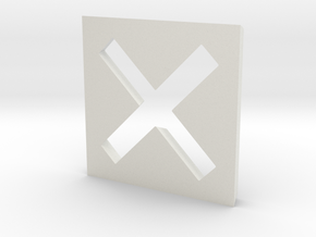 Cross - 1 in White Natural Versatile Plastic