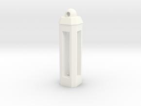 Tritium Keychain Lantern in White Processed Versatile Plastic