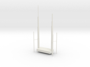 Willis Tower Antennae in White Natural Versatile Plastic