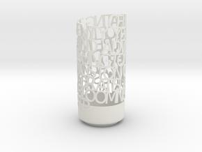 Anniv Light Poem in White Natural Versatile Plastic