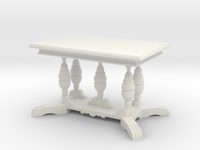1:24 Old English Work Table in White Natural Versatile Plastic