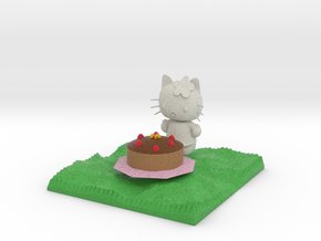 Hello Kitty With Cake  in Full Color Sandstone