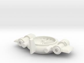 Light Machine Gun UAV in White Natural Versatile Plastic