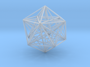 Sacred Geometry: Icosahedron with Stellated Dodeca in Smooth Fine Detail Plastic