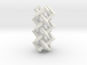 Right-angled Braidwork II in White Natural Versatile Plastic