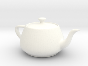 Teapot in White Strong & Flexible Polished